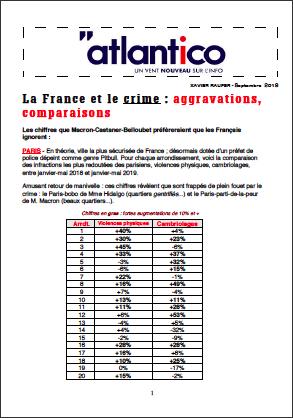 La France et le crime : aggravations, comparaisons