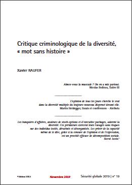 Critique criminologique de la diversité, « mot sans histoire »