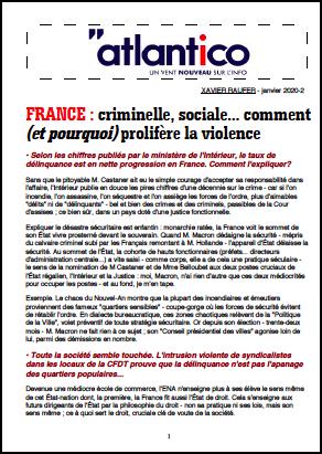 FRANCE : criminelle, sociale… comment (et pourquoi) prolifère la violence