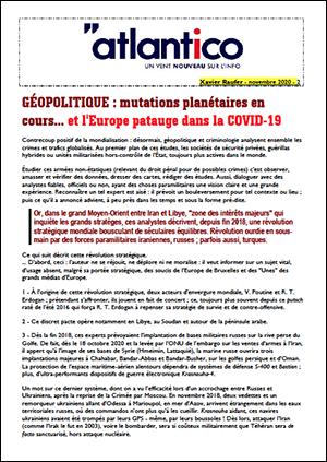 GÉOPOLITIQUE : mutations planétaires en cours… et l'Europe patauge dans la COVID-19