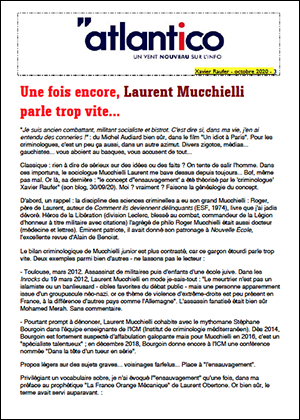 Une fois encore, Laurent Mucchielli parle trop vite…