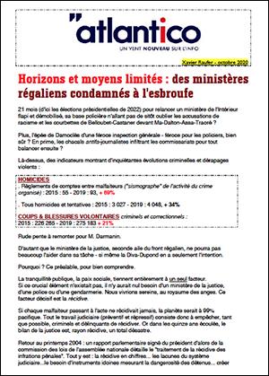 Horizons et moyens limités : des ministères régaliens condamnés à l'esbroufe
