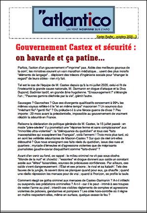 Gouvernement Castex et sécurité : on bavarde et ça patine…
