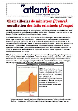 Chamailleries de ministres (France), occultation des faits criminels (Europe)