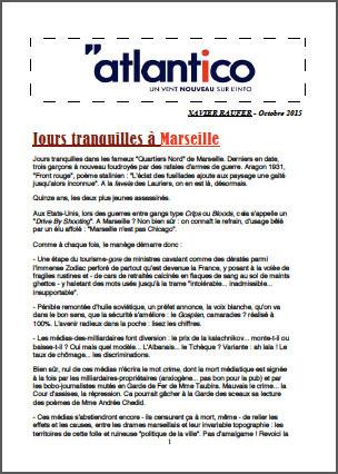 Jours tranquilles à Marseille