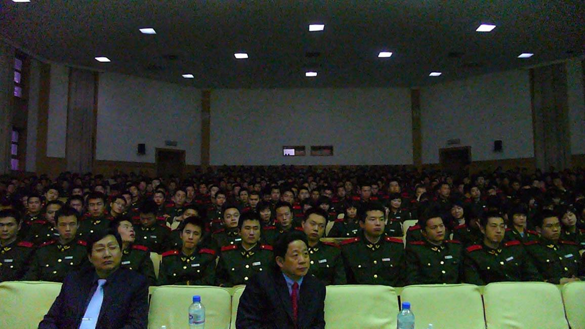 A l'académie de la police armée à Lanfang (près de Beijing), pour une conférence en compagnie d'Alain Bauer et de François Haut.
