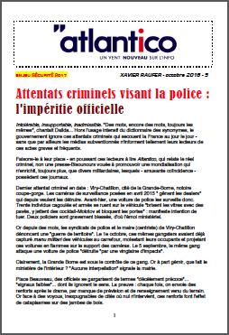 Attentats criminels visant la police : l'impéritie officielle