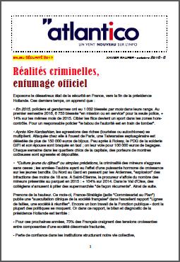 Réalités criminelles, enfumage officiel