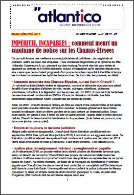 IMPÉRITIE, INCAPABLES : comment meurt un capitaine de police sur les Champs-Elysées