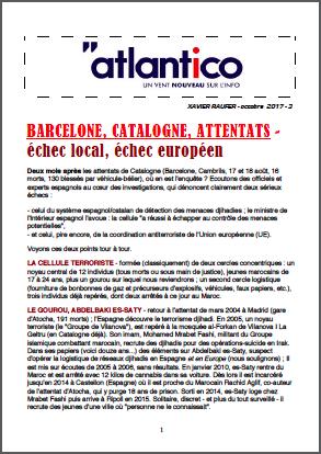 BARCELONE, CATALOGNE, ATTENTATS – échec local, échec européen