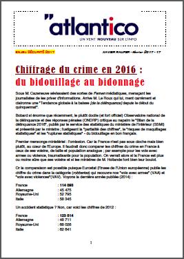 Chiffrage du crime en 2016 : du bidouillage au bidonnage