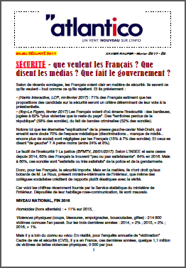 SÉCURITÉ – que veulent les Français ? Que disent les médias ? Que fait le gouvernement ?