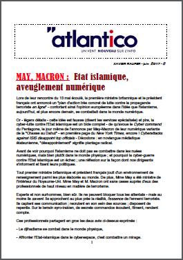MAY, MACRON : Etat islamique aveuglement numérique