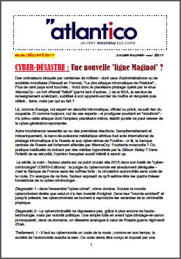 CYBER-DÉSASTRE : Une nouvelle 'ligne Maginot' ?