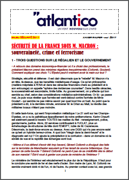 SÉCURITÉ DE LA FRANCE SOUS M. MACRON : souveraineté, crime et terrorisme