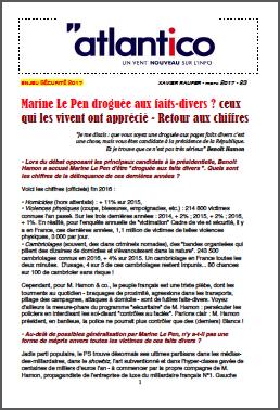Marine Le Pen droguée aux faits-divers ? ceux qui les vivent ont apprécié – Retour aux chiffres
