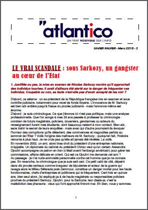 LE VRAI SCANDALE : sous Sarkozy, un gangster au cœur de l'Etat
