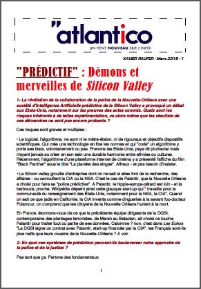 «PRÉDICTIF» : Démons et merveilles de Silicon Valley
