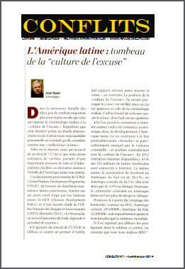 L'Amérique latine : tombeau de la « culture de l'excuse ».