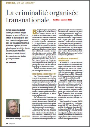 La criminalité organisée transnationale