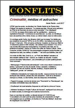 Criminalité, médias et autruches