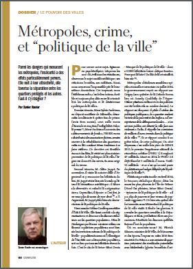 """Métropoles, crime, et """"politique de la ville"""""""