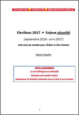 Elections 2017 – Enjeux sécurité