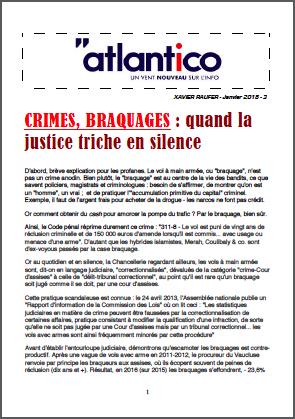 CRIMES, BRAQUAGES : quand la justice triche en silence