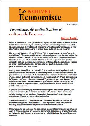 Terrorisme, dé-radicalisation et culture de l'excuse