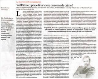 Wall Street : place financière ou scène de crime ?