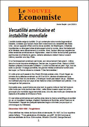 Versatilité américaine et instabilité mondiale