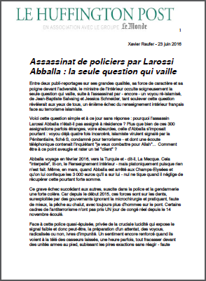 Assassinat de policiers par Larossi Abballa : la seule question qui vaille