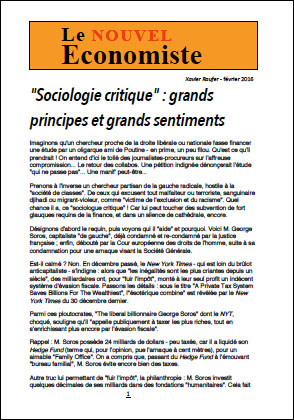 « Sociologie critique » : grands principes et grands sentiments