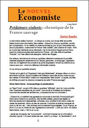 Prédateurs violents : chronique de la France sauvage