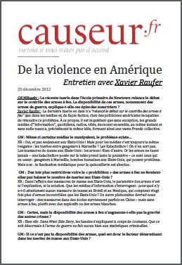 De la violence en Amérique