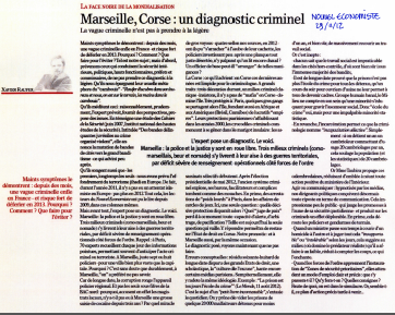 Marseille, Corse : un diagnostic criminel