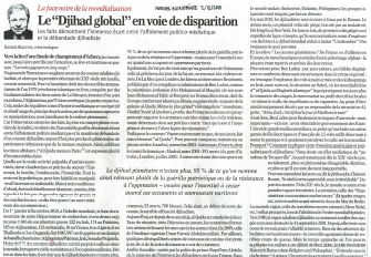 Le « Djihad global » en voie de disparition