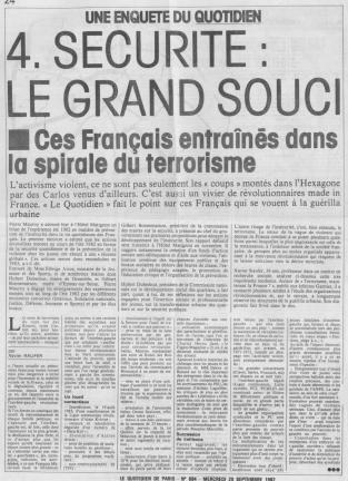 Ces français entraînés dans la spirale du terrorisme