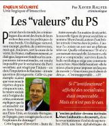 Les «valeurs» du PS