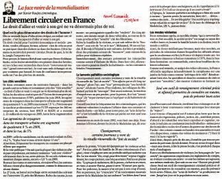 Librement circuler en France