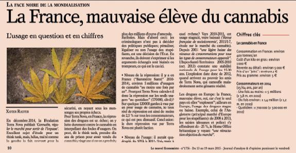 La France, mauvaise élève du canabis