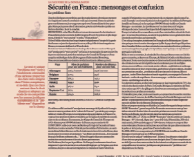 Sécurité en France : mensonges et confusion