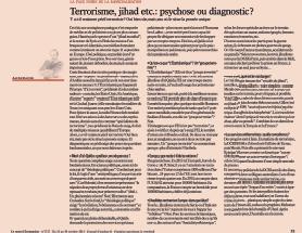 Terrorisme, jihad etc. : psychose ou diagnostic ?