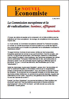La Commission européenne et la dé-radicalisation : honteux, affligeant