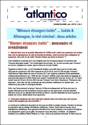 «Mineurs étrangers isolés» … Suède & Allemagne, le réel criminel : deux articles