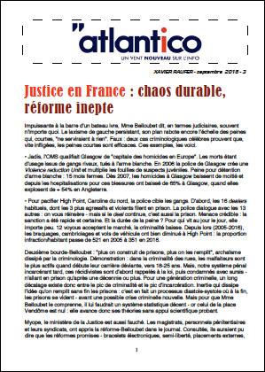 Justice en France : chaos durable, réforme inepte