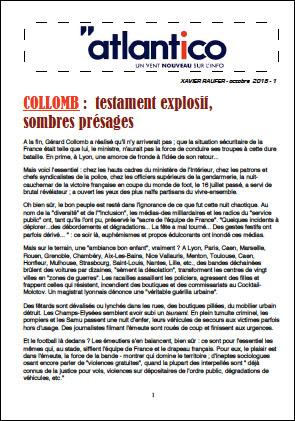 COLLOMB : testament explosif, sombres présages