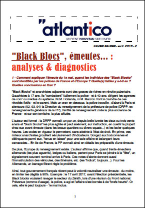 « Black Blocs », émeutes… : analyses & diagnostics