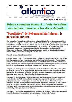 Prince saoudien évanoui … Vols de boîtes aux lettres : deux articles dans Atlantico