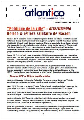 «Politique de la ville» : divertimento Borloo & réflexe salutaire de Macron